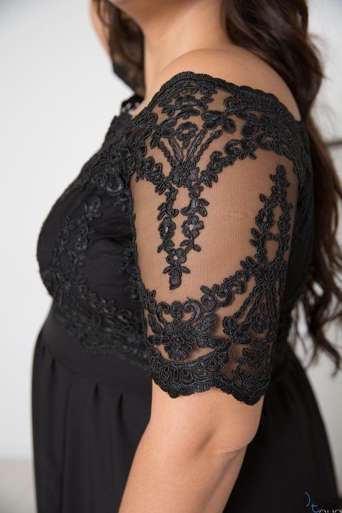 Black Dress VITTORIA Plus Size