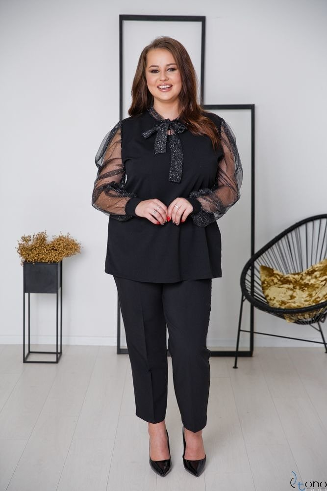 Black-Silver Blouse NECKEL Plus Size