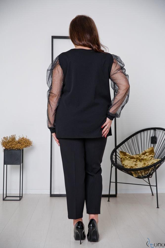 Black-Silver Blouse NELMA Plus Size