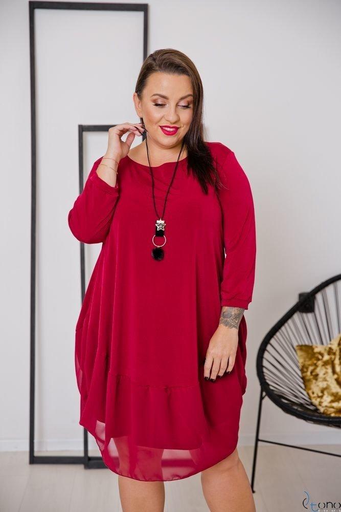 Claret Dress APPRI Plus Size