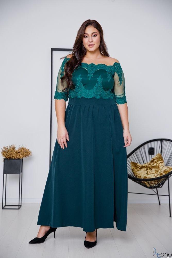 Green Dress VITTORIA Plus Size