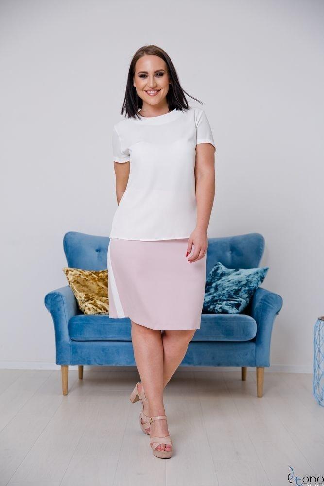 Pink-White Skirt DEBBY Plus Size