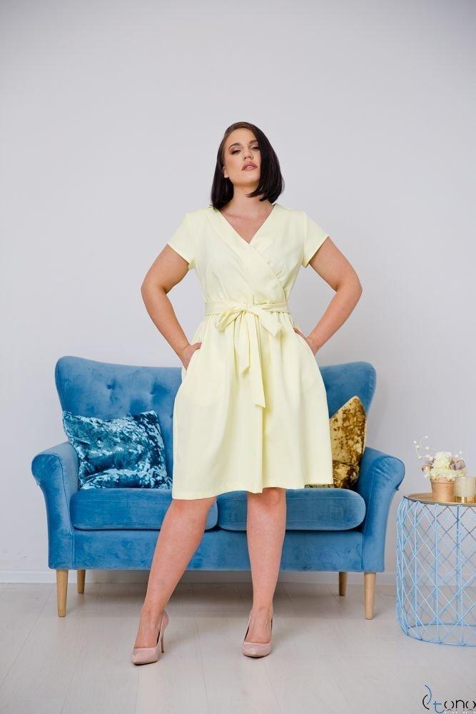 Yellow Dress MACARIS Plus Size