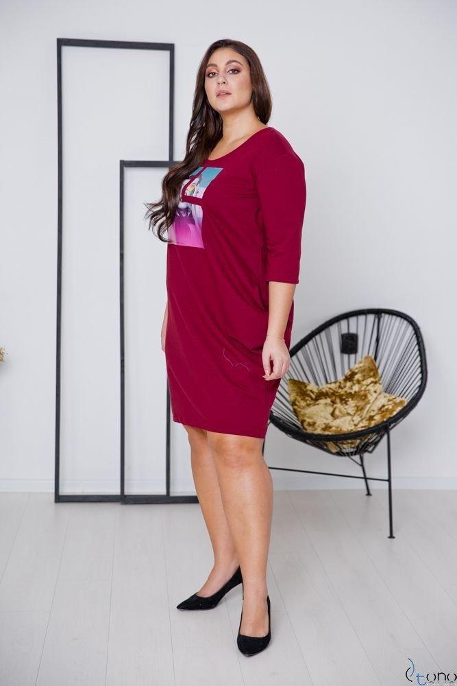 Claret Dress ELIA Plus Size