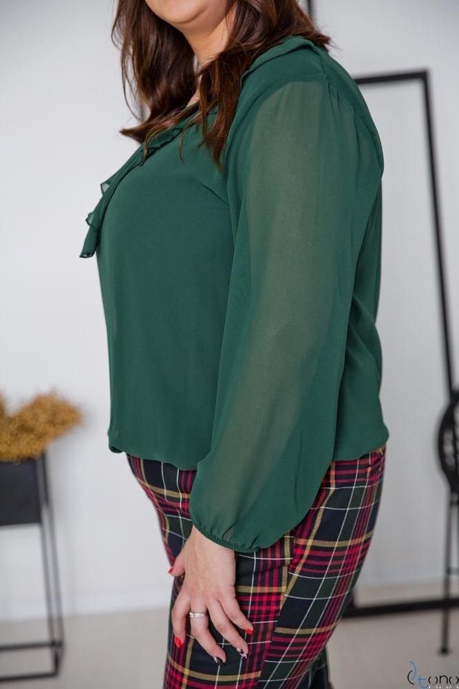 Green Blouse FONDATA Plus Size