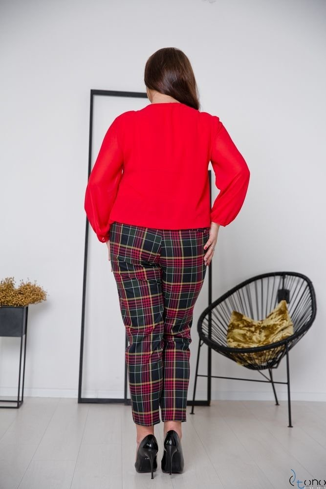 Red Blouse FONDATA Plus Size