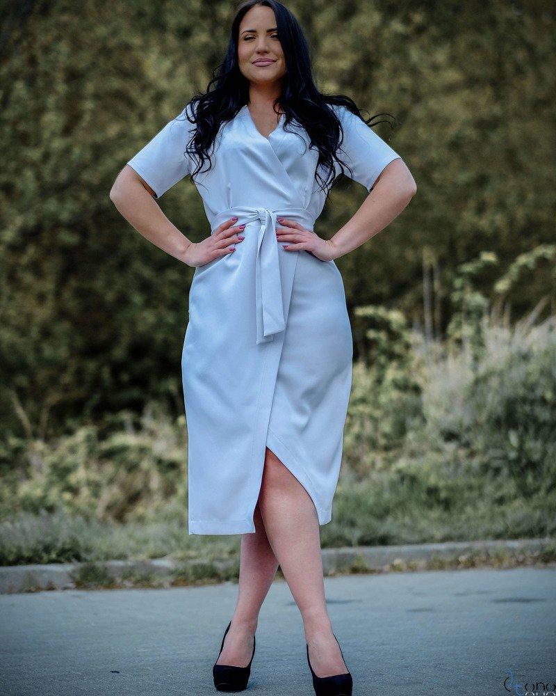 10ffd3aadd0d73 Szary Sukienka FERRITA Plus Size ✅ darmowy odbiór w punckie i zwrot ...
