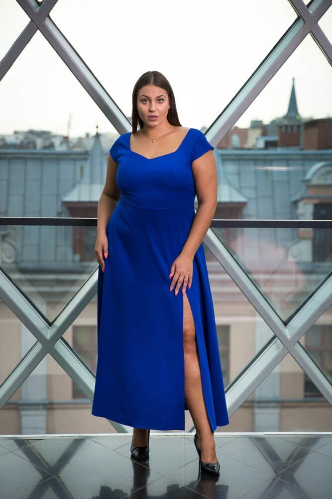 2e0e5c2789 Chabrowa Sukienka NANCY Plus Size ✅ darmowy odbiór w punckie i ...