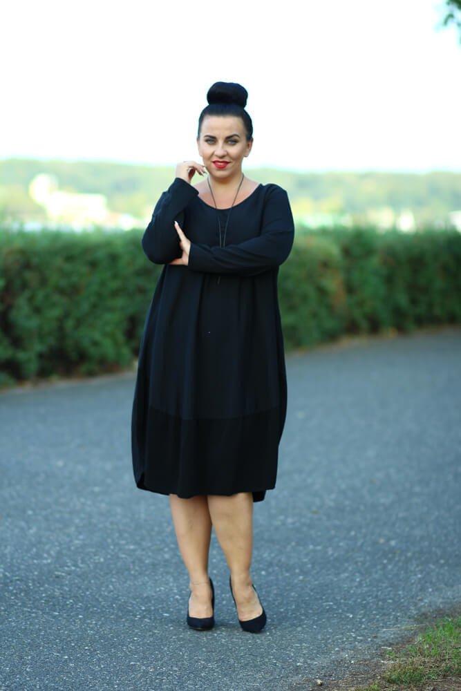 feaffb3a8c Czarna Sukienka KYOTO Plus Size ✅ darmowy odbiór w punckie i zwrot ...