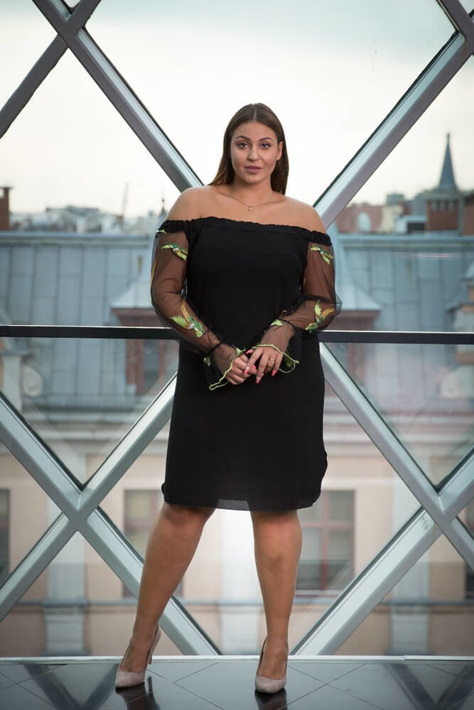 58bf1b22ce Czarna Sukienka MADAME Plus Size ✅ darmowy odbiór w punckie i zwrot ...