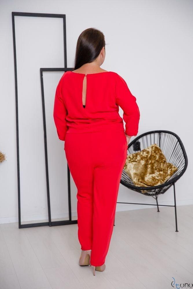 Czerwony Kombinezon DEBORA Plus Size