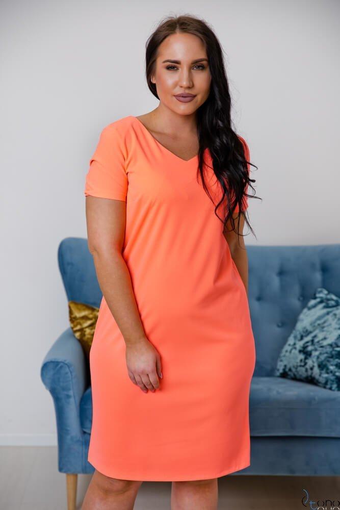 1a4afb2ed59ad7 Neonowa Sukienka MELIA Plus Size ✅ darmowy odbiór w punckie i zwrot ...