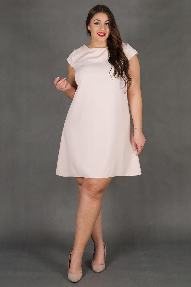 2750ea9706 Różowa Sukienka FINESTRA Rozkloszowana Plus Size ✅ darmowy odbiór w ...