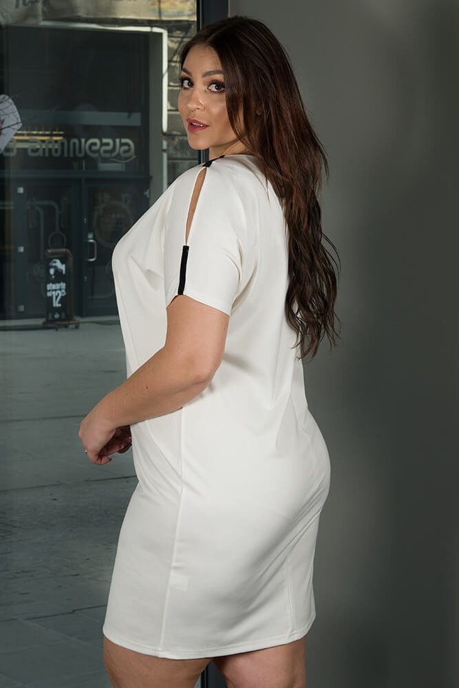 10ff6c74ea Sukienka ANASTAZJA duże rozmiary ecru ✅ darmowy odbiór w punckie i ...