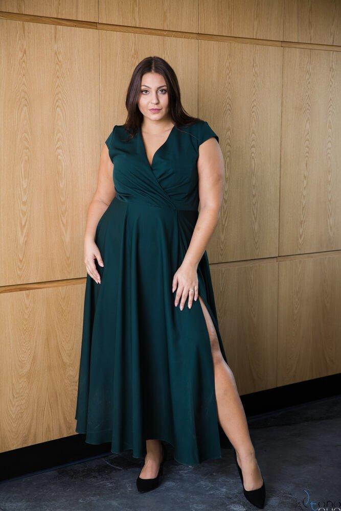 01c560a62851f0 Zielona Sukienka LOREDANA Plus Size ✅ darmowy odbiór w punckie i ...
