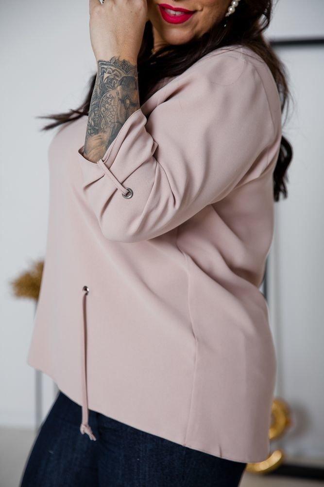 Beżowa Bluzka LOVIA Plus Size