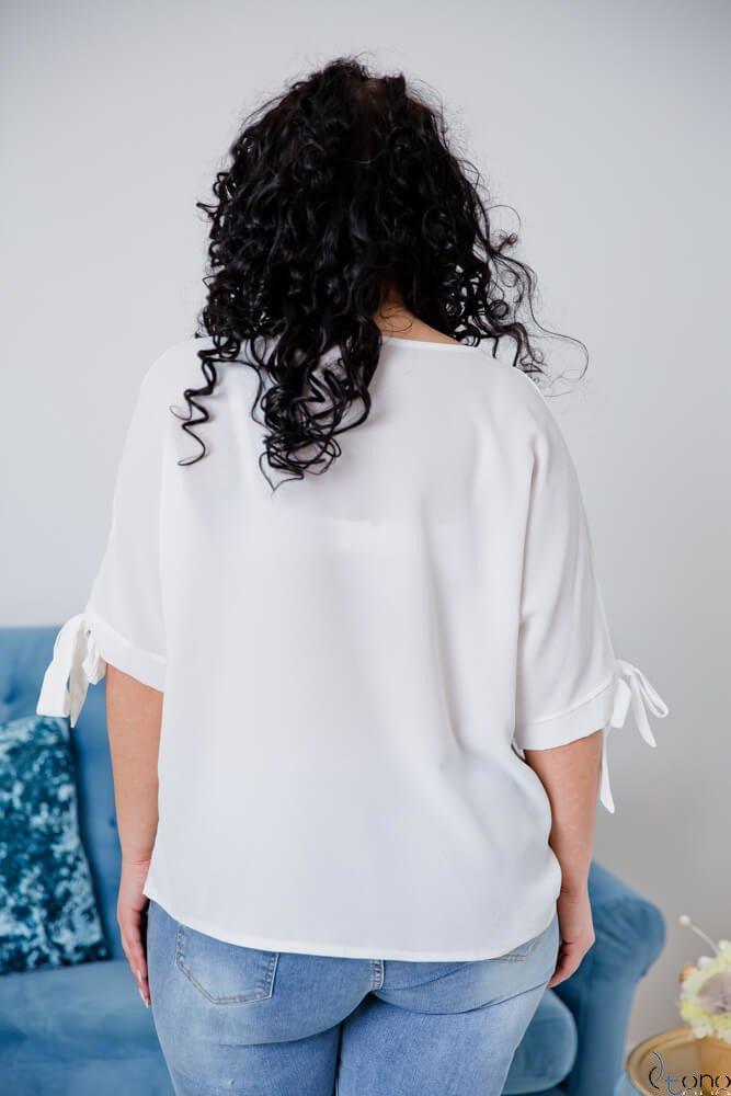 Biała Bluzka BACCI Plus Size