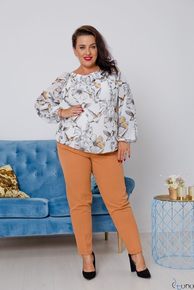 Biała Bluzka FALLEN Plus Size