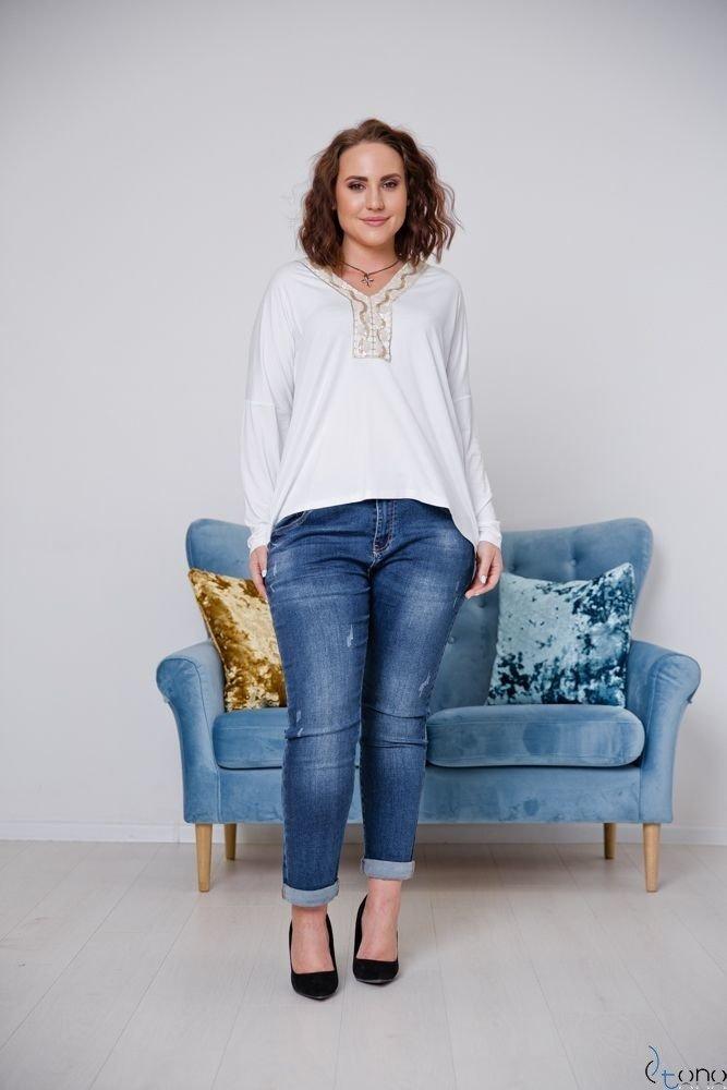 Biała Bluzka ORETTA Plus Size