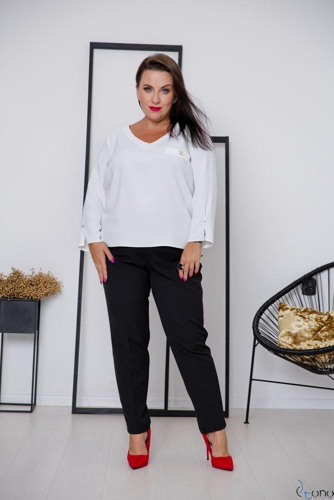 Biała Bluzka RAFAELA Plus Size