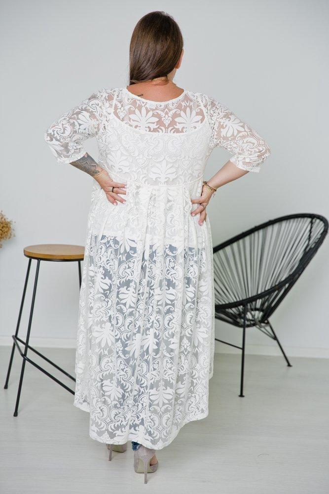 Biała Bluzka RIKKA Plus Size