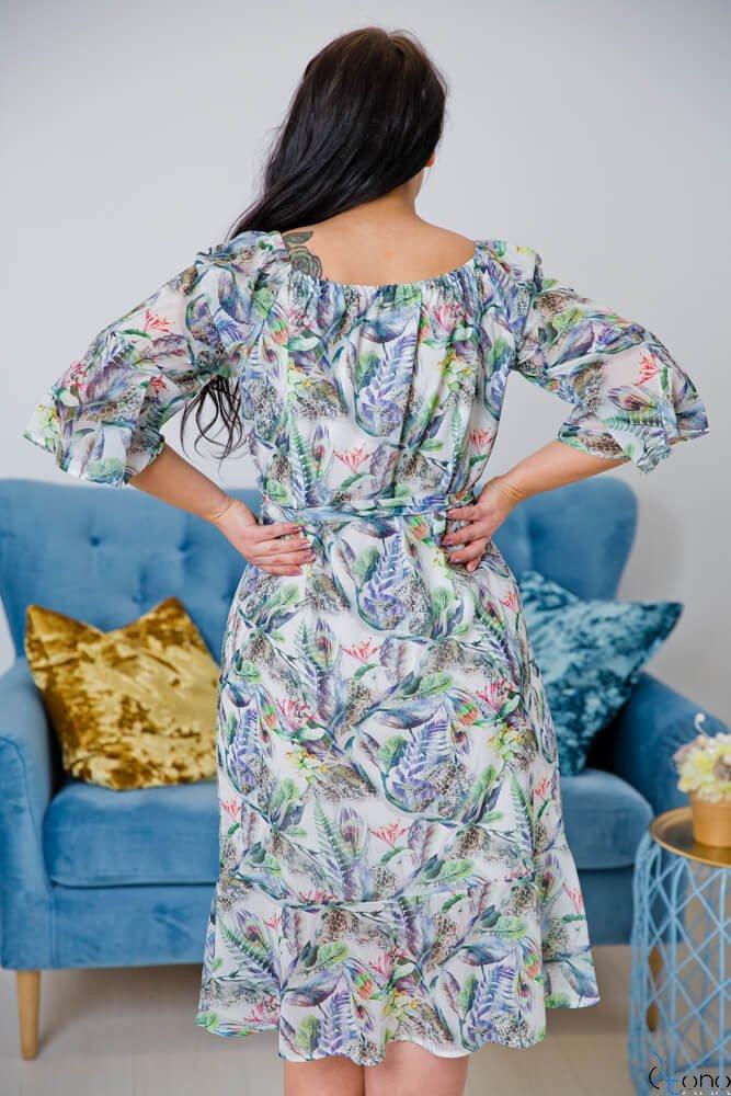 Biała Sukienka BIANKINA Plus Size