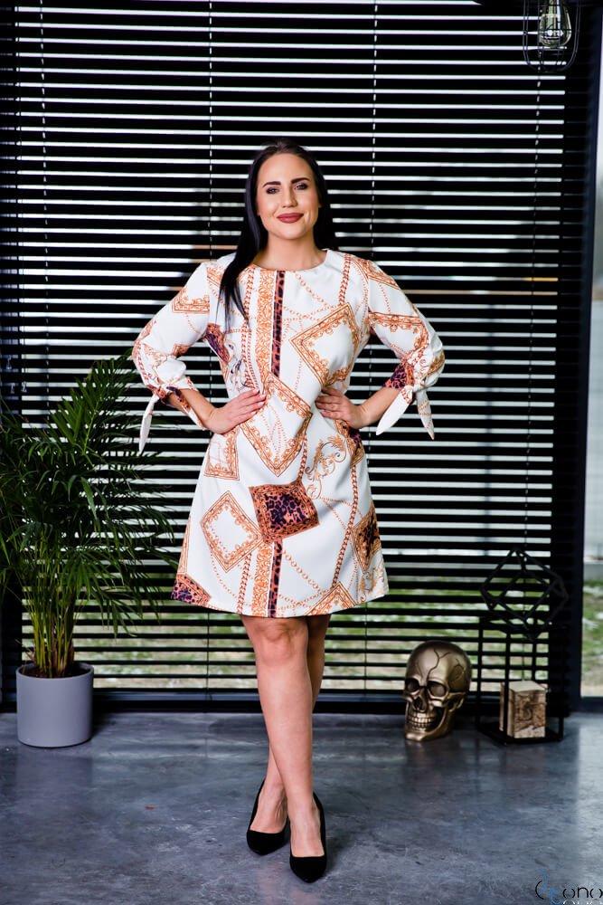 Biała Sukienka RICOLA Plus Size