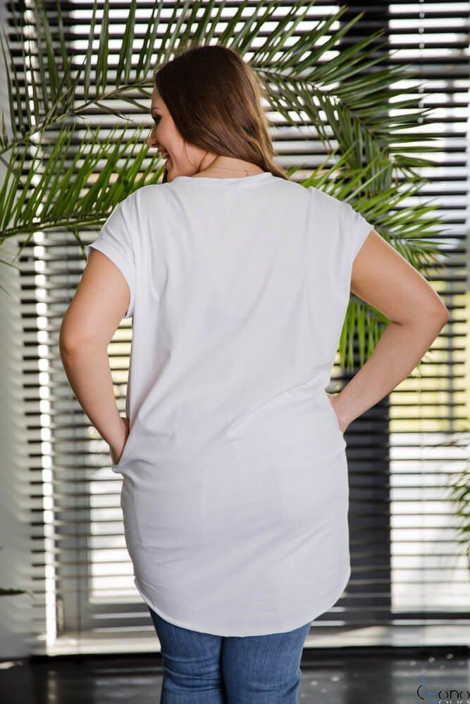Biała Tunika LUIZE Plus Size Wzór 2