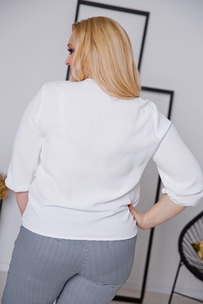 Biały Bluzka BONITA Plus Size