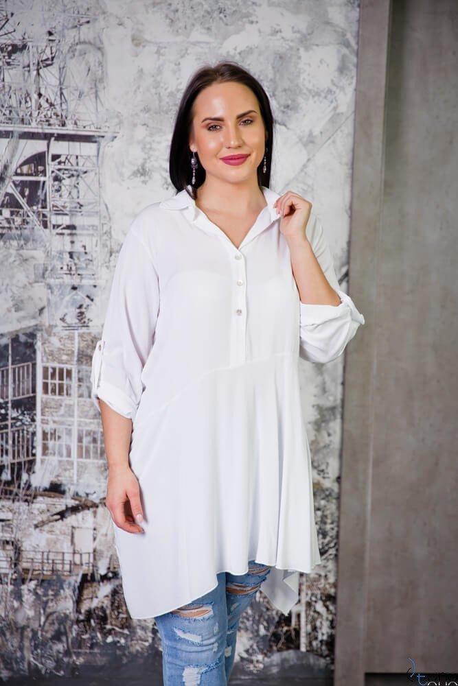 Biała Bluzka CODINA Plus Size