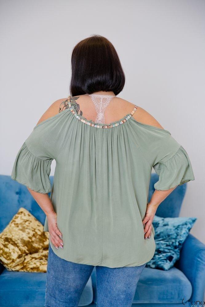 Bluzka SOLITA Khaki Plus Size