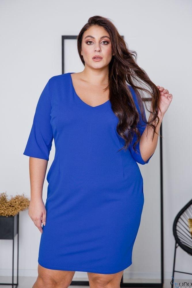 Chabrowa Sukienka AZURRA Plus Size
