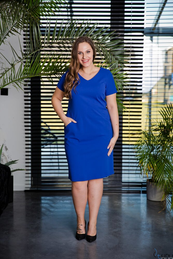 Chabrowa Sukienka EJMY Plus Size