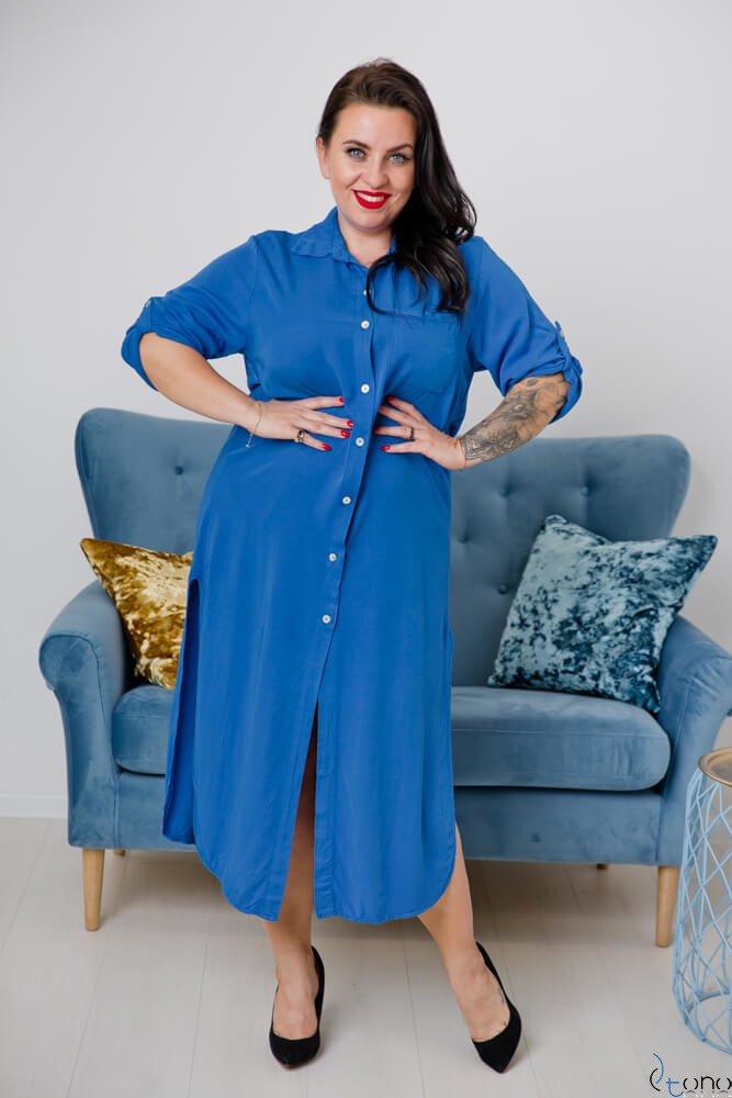 Chabrowa Sukienka SUCESIA Plus Size