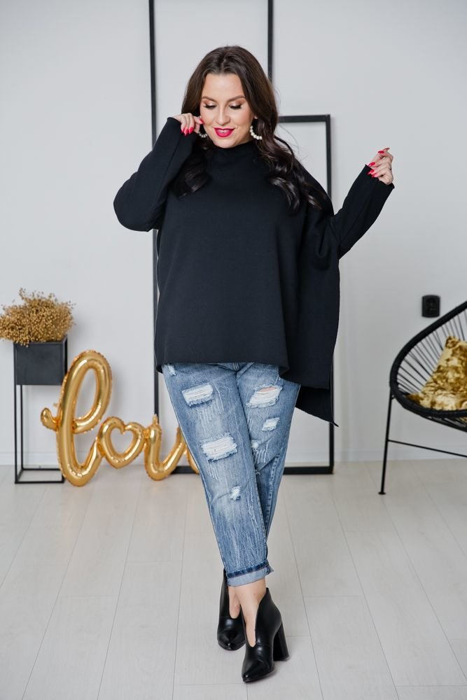 Czarna Bluza ASTURIS Plus Size