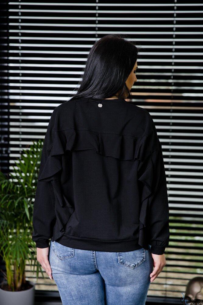 Czarna Bluza POSTER Plus Size