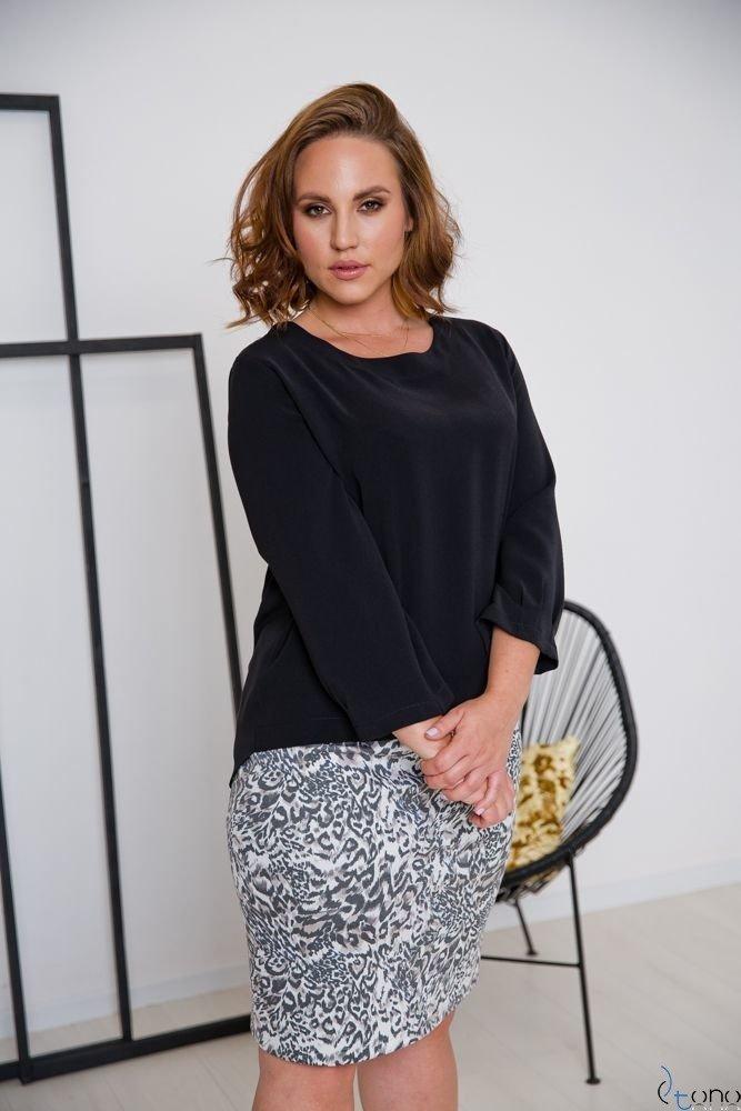Czarna Bluzka AUROSIA Plus Size