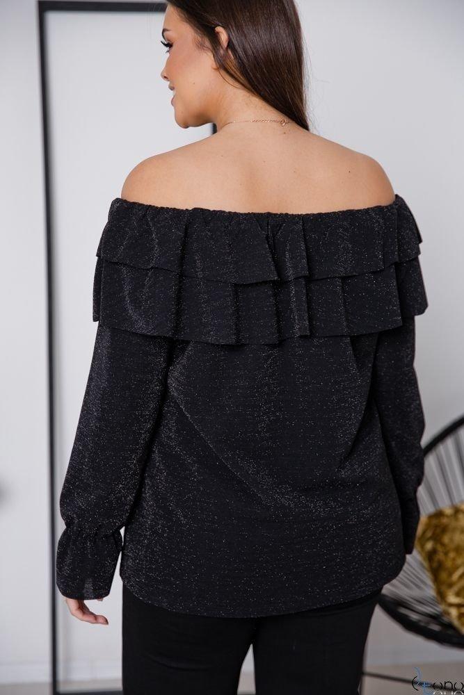 Czarna Bluzka BASTILIA Plus Size