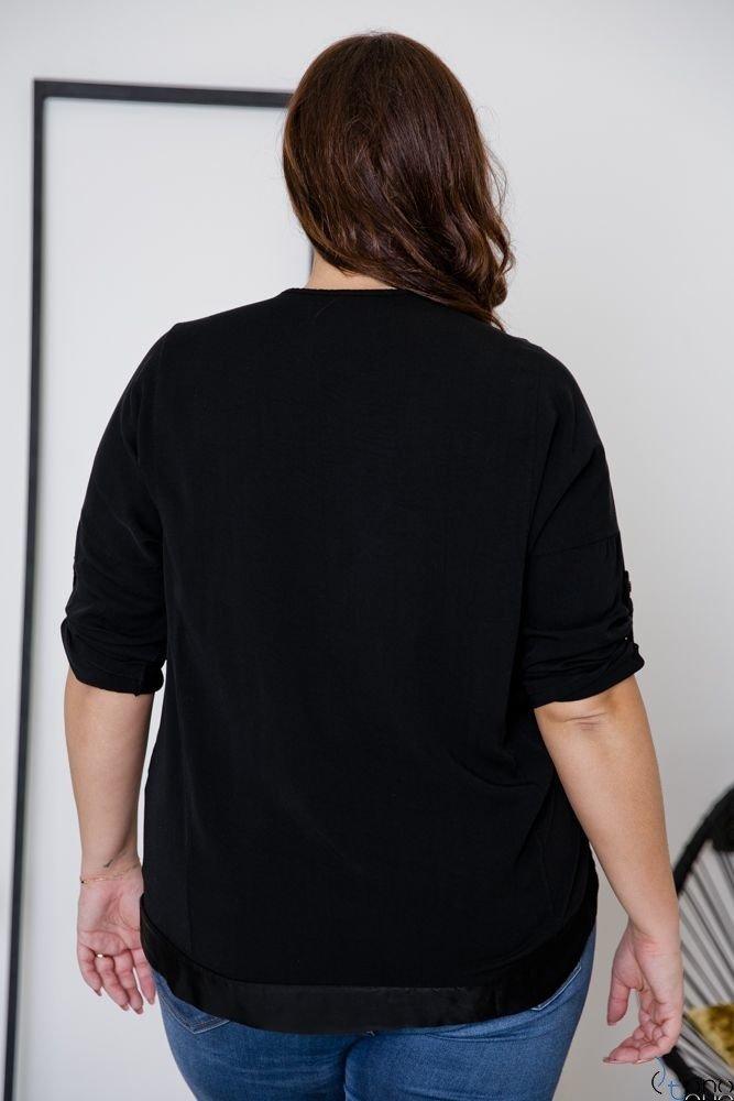 Czarna Bluzka INSIDE Plus Size