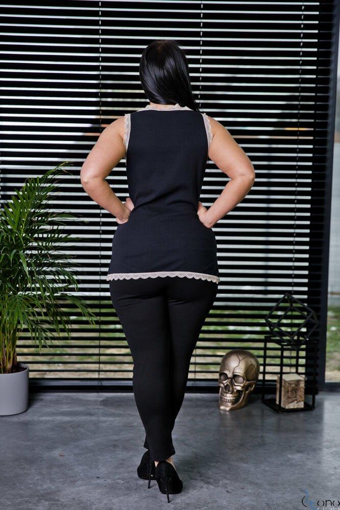 Czarna Bluzka MELLY Plus Size
