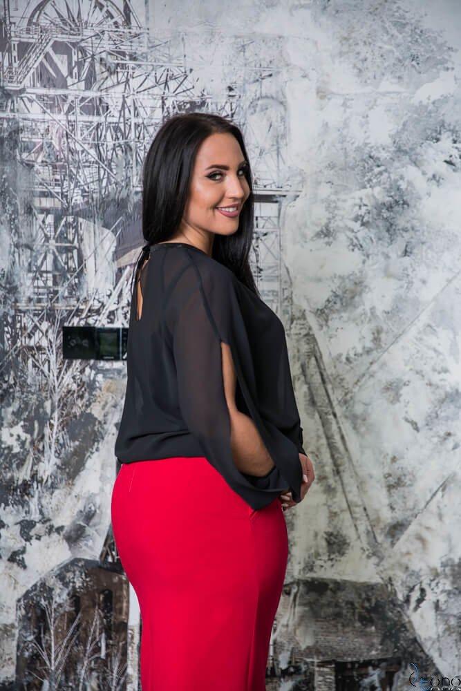 Czarna Bluzka MONIQUE Bliźniak Plus Size