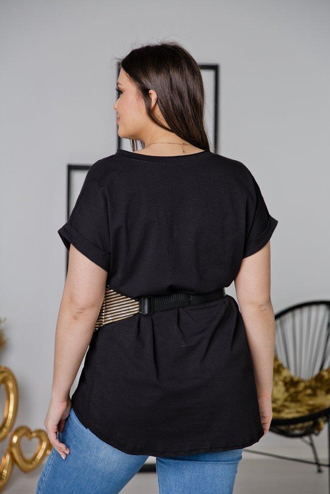 Czarna Bluzka QUEEN Plus Size