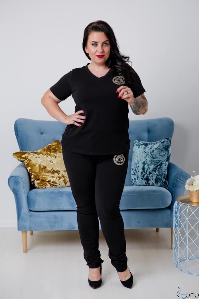 Czarna Bluzka TIGER Plus Size