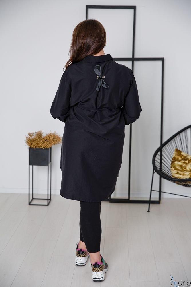Czarna Koszula FIENA Plus Size