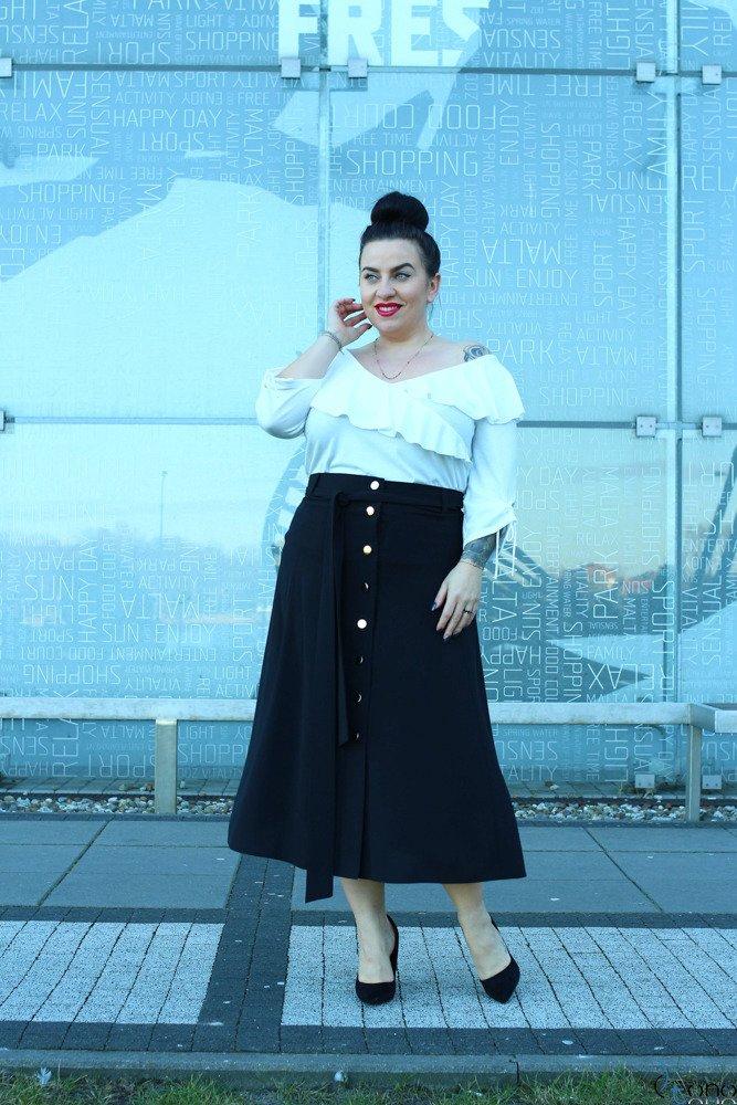 Czarna Spódnica CANELLA Plus Size