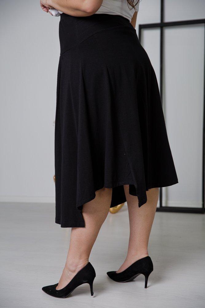 Czarna Spódnica FREPA Plus Size