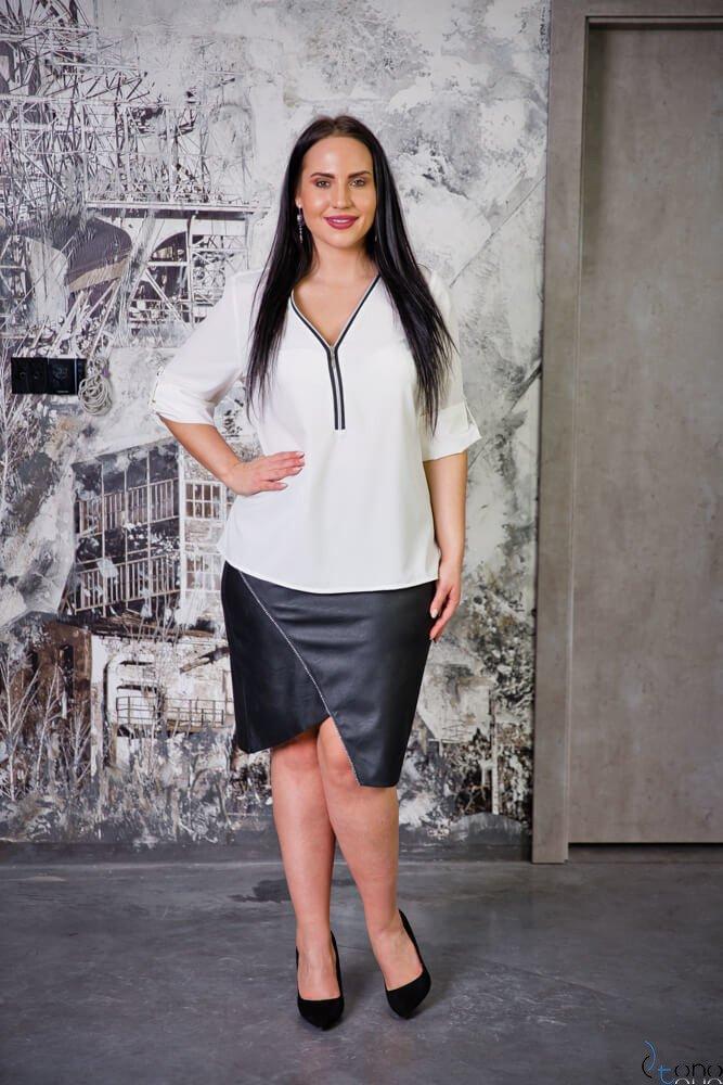 Czarna Spódnica LINES Plus Size