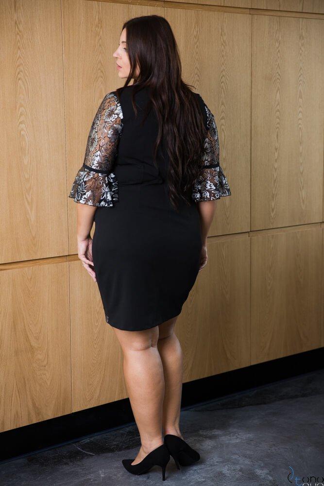 Czarna Sukienka AGNESS Plus Size