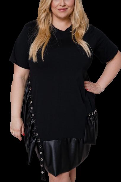Czarna Sukienka ANA Plus Size