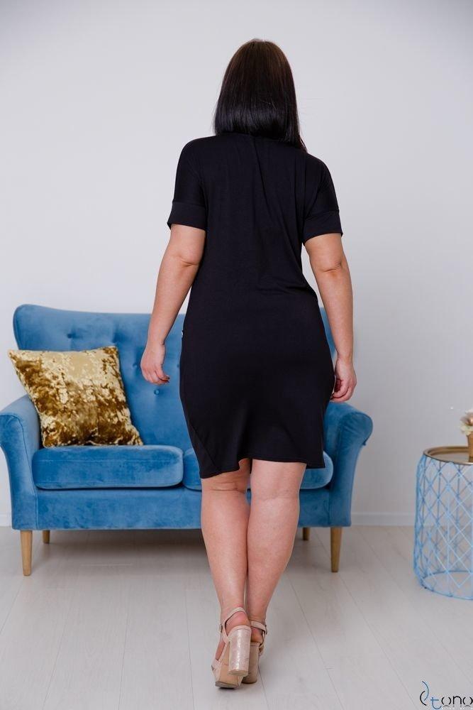 Czarna Sukienka ASTERIA Plus Size